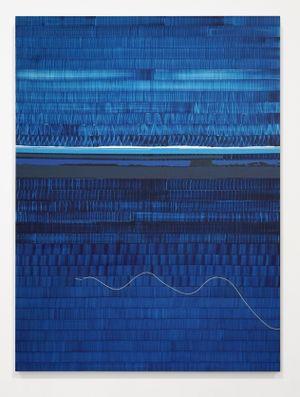 Soñé que revelabas (Hudson blue) by Juan Uslé contemporary artwork
