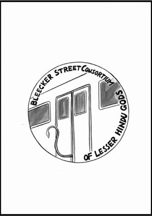 Logo 2 (Bleecker Street Consortium of Lesser Hindu Gods) by Sarnath Banerjee contemporary artwork
