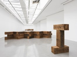 Carl Andre Retrospective Opens At Musee d'Art Moderne in Paris