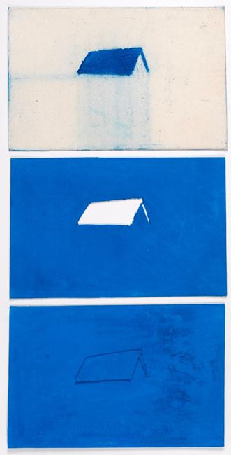The Blue House Studies I, II & III by Desmond Lazaro contemporary artwork