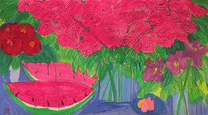 Watermelon Feast by Walasse Ting contemporary artwork