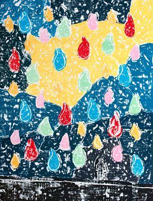 Color Rain by Olaf Breuning contemporary artwork