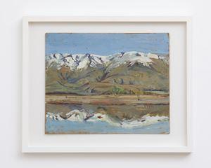 Pisa Range from Bendigo by Anne Hamblett contemporary artwork