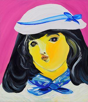 On a Train by Aki Kondo contemporary artwork