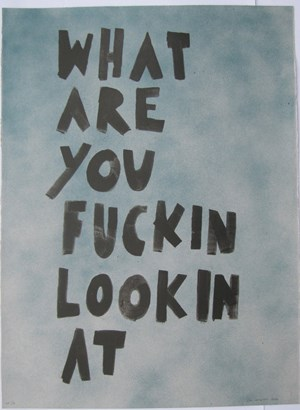 What are you fuckin lookin at by Jon Campbell contemporary artwork