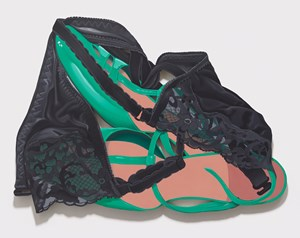Black Bra and Green Shoes by Tom Wesselmann contemporary artwork