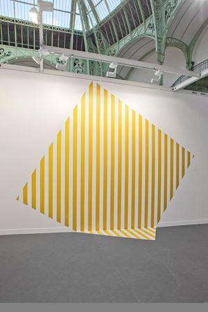 De travers et trop grand - jaune by Daniel Buren contemporary artwork