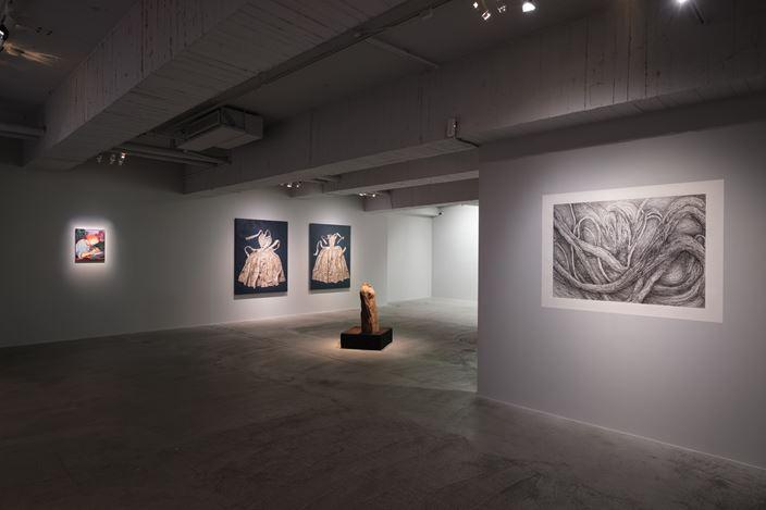 Exhibition view: Marina Cruz, Rao Fu and Shi Jin-Hua,Renaissance, Mind Set Art Center, Taipei (22 August–19 September 2020). Courtesy Mind Set Art Center.