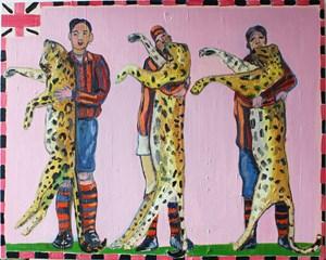 Paradise No. 5 (Three Leopards) by Carla Busuttil contemporary artwork