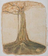 Portrait of  a Banyan Tree by Siji Krishnan contemporary artwork works on paper