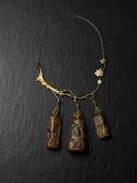 Necklace by Mimi Lipton contemporary artwork mixed media