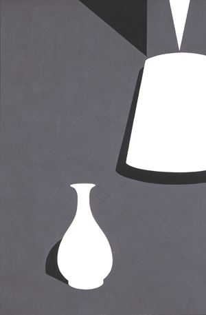 White Ware Prints: Lamp and Lung Ch'uan Ware by Patrick Caulfield contemporary artwork