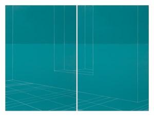 Hanging Window, view to inner room, Ocean by Kate Shepherd contemporary artwork