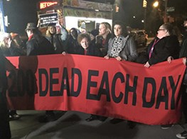 NAN GOLDIN AND P.A.I.N. GROUP PROTEST SACKLER FAMILY AT THE GUGGENHEIM