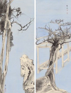 Elegant Offering Series No. 23 and No. 24 by Luo Ying contemporary artwork