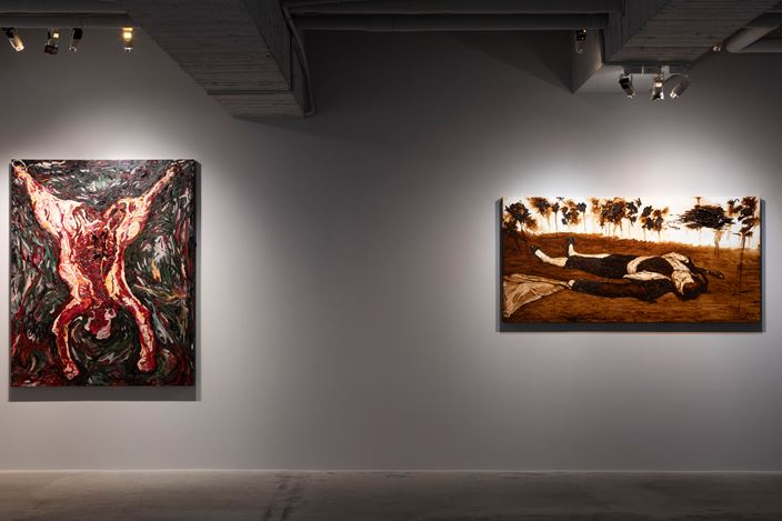 Exhibition view: Shi Jin-Hua, Homage to the Masters, Mind Set Art Center, Taipei (14 December–18 January 2019). Courtesy Mind Set Art Center.