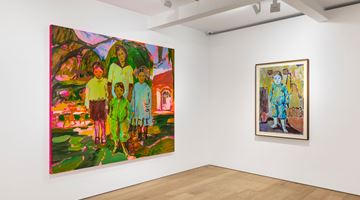 Contemporary art exhibition, Claire Tabouret, Siblings at Perrotin, Seoul, South Korea