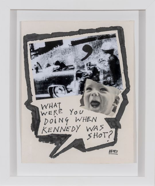 What were you doing when Kennedy was shot? by Derek Boshier contemporary artwork