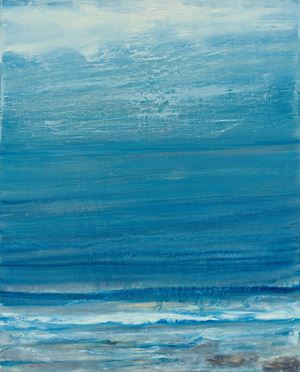 Hot Summer Sea by Celia Paul contemporary artwork