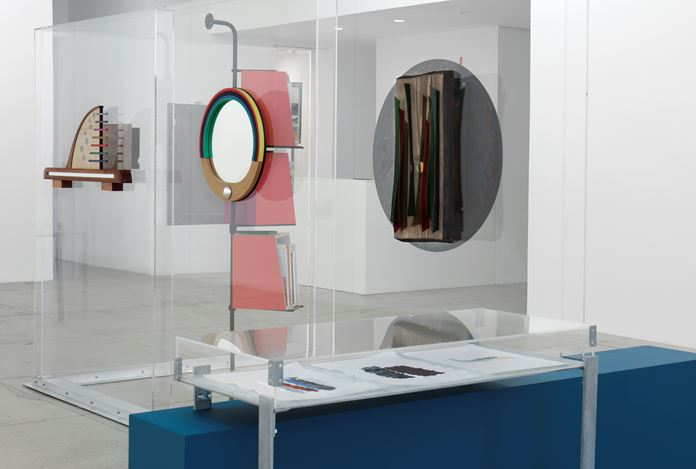 Exhibition view: Nairy Baghramian and Janette Laverrière, Work Desk for An Ambassador's Wife, Marian Goodman Gallery, New York (7 November–20 December 2019). Courtesy Marian Goodman Gallery.
