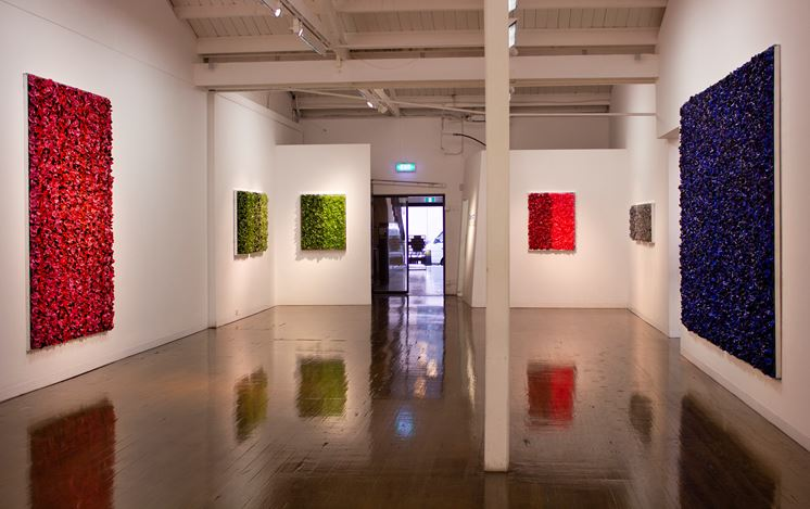 Exhibition view: Dani Marti, Blue on Blue, Arc One Gallery, Melbourne (4 February–7 March 2020). Courtesy Arc One Gallery.