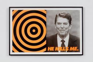 He Kills Me by Donald Moffett contemporary artwork