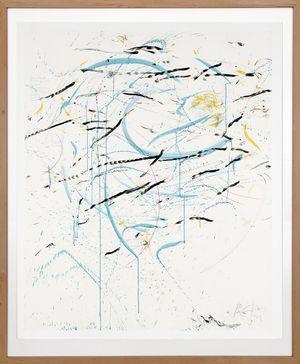 Karawane der Zugvögel schreiben die Texte neu by Rebecca Horn contemporary artwork painting, works on paper, drawing