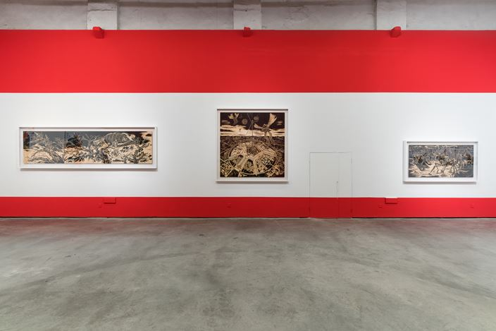 Exhibition view: Sun Xun, The Release of the New Film 'Magic of Atlas' and Experimental Space, ShanghART, Shanghai (2 November 2019–20 February 2020). Courtesy ShanghART. Photo: Alessandro Wang.