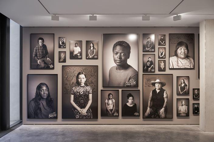 Exhibition view: Shirin Neshat,Land of Dreams, Goodman Gallery, London (20 February–31 May 2020). Courtesy Goodman Gallery.