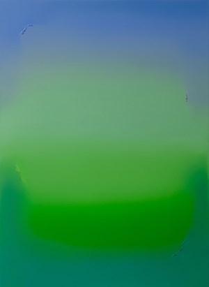 Untitled (Ultramarine Blue, Bright Green & Emerald Green) by Jamie Teo Si Ru contemporary artwork