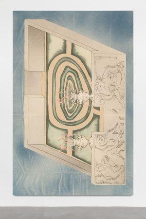 Garden chariot in blue by Matthew Lutz-Kinoy contemporary artwork