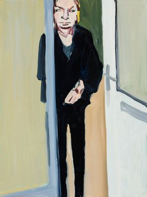 My Mother in her Doorway by Chantal Joffe contemporary artwork