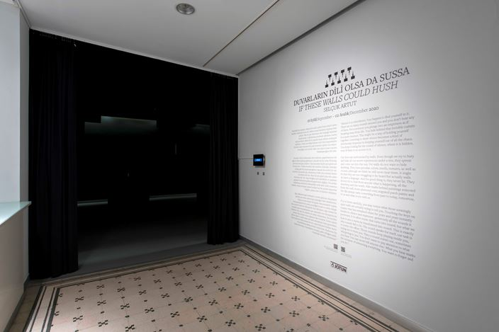 Exhibition view: Selçuk Artut, If these walls could hush, Zilberman Gallery, Istanbul (18 September–2 December 2020). Courtesy Zilberman Gallery.