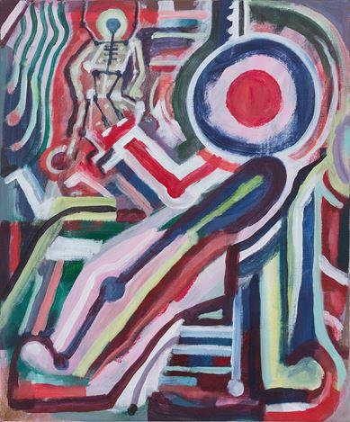 Simon Blau, Control (2018). Acrylic on linen, 91.4 x 76 cm. Courtesy Gallery 9, Sydney.