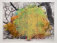 Numbers and Trees: London Series 1, Tree #10, John Carpenter Street by Charles Gaines contemporary artwork painting, works on paper, photography
