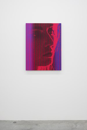 As Yet Titled (Red Portrait) by Richard Phillips contemporary artwork