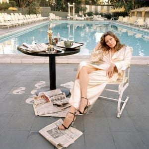 Faye Dunaway, Beverly Hills Hotel by Terry O'Neill contemporary artwork