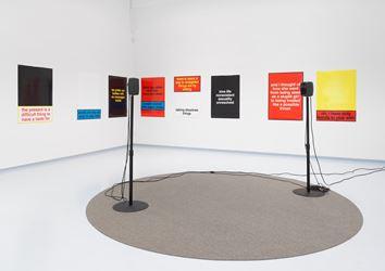 Exhibition view: Hanne Lippard and Nora Turato, Condo New York: LambdaLambdaLambda (29 June–27 July 2018). Metro Pictures, New York. Courtesy the artists and LambdaLambdaLambda, Prishtina.