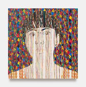 Portrait of Sindy by Ghada Amer contemporary artwork