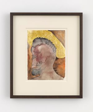 Untitled (Saint 8) by Chris Ofili contemporary artwork painting, works on paper