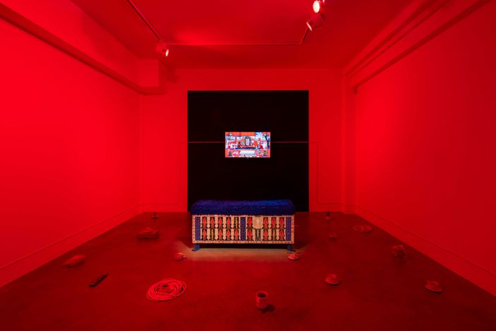 Exhibition view: Kara Chin, Fountain of Youth, Huxley-Parlour, London (8 July–11 September 2021). CourtesyHuxley-Parlour.
