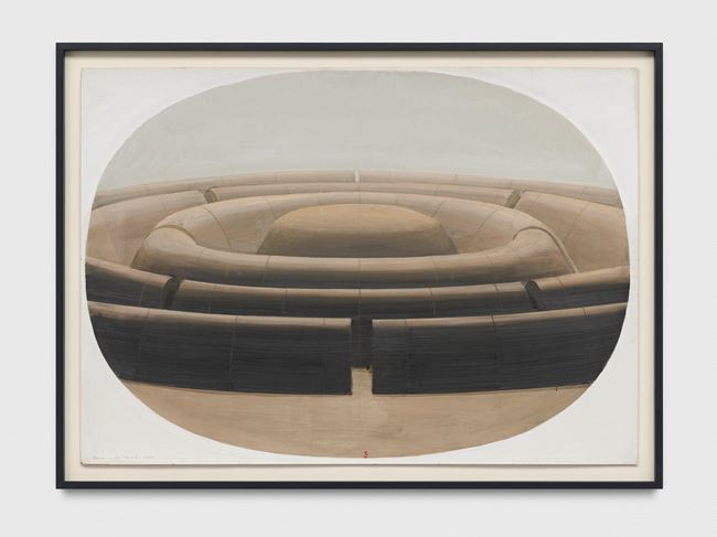 La Cite Mandala dans un ovale by Horia Damian contemporary artwork