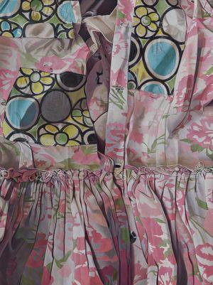 Fabric Skin I: Mended with Circles by Marina Cruz contemporary artwork