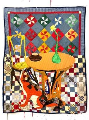 Fox River by Jesse Krimes contemporary artwork textile