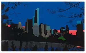 Central Park at Dusk by Brian Alfred contemporary artwork