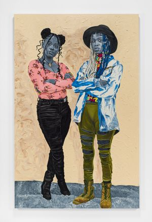 Raiyasha & Rainyanni by Otis Kwame Kye Quaicoe contemporary artwork painting