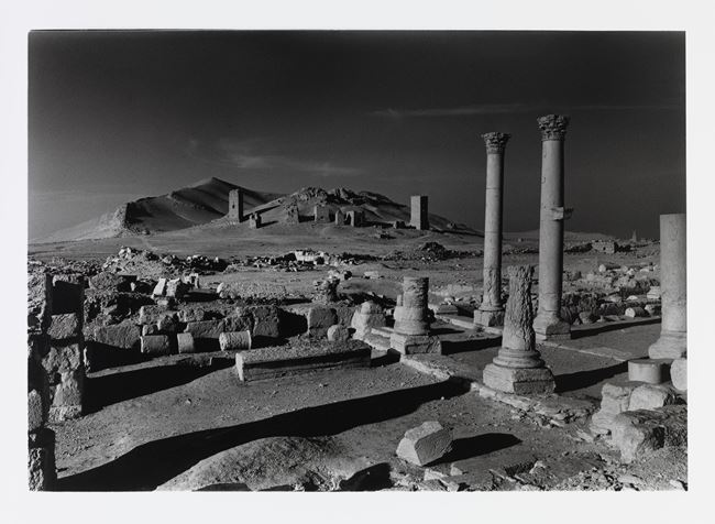 Looking forward to the valley of the tombs which Isis have destroyed by Don McCullin contemporary artwork