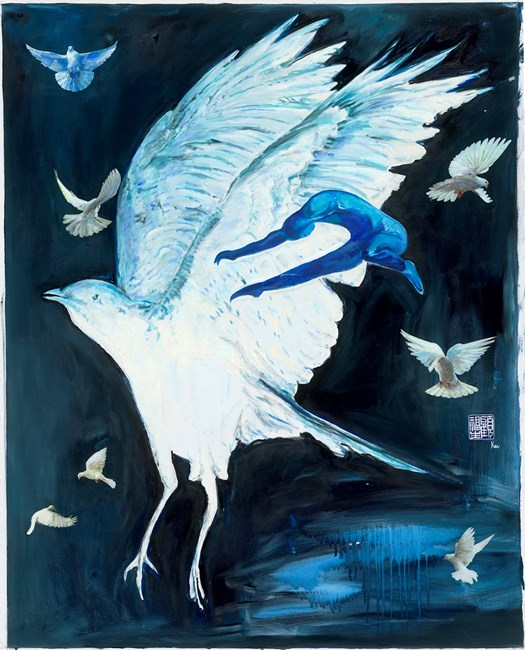 Night Flight by Fu-sheng Ku contemporary artwork