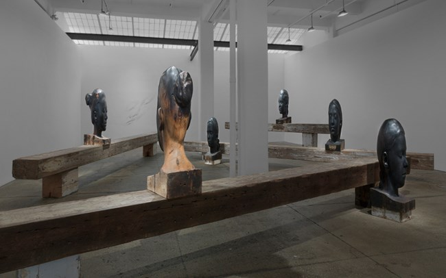 SILENCE (detail) by Jaume Plensa contemporary artwork