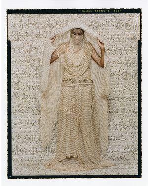 Les Femmes du Maroc: Moorish Woman by Lalla Essaydi contemporary artwork